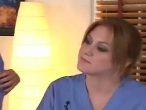 Hot lesbians as nurses talk shop need practice play doctor pussy ass-play...