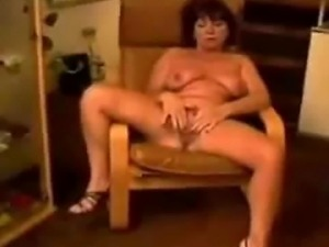 Chair masturbation of french mature