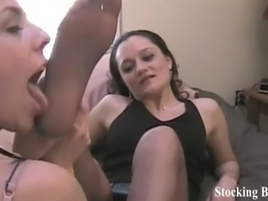 After work foot worship with hot babes