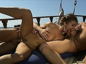 Rita Faltoyano ass fuck on the boat