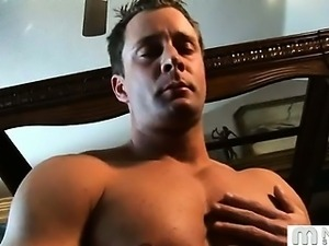 Hot guy, strong muscles, big cock and an awesome pop! What