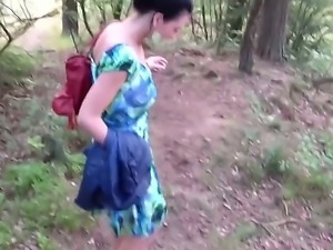 Amazing and really fantastic amateur couple sex in the nice and sexy forest