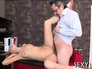 Succulent pounding of a sexy twat