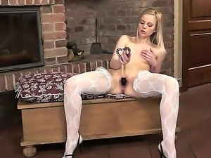 Nasty girlfriend Layla uses her favorite toy for an awesome masturbation