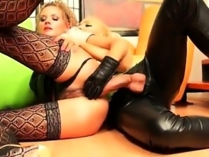 Sweet lesbian girl with hairy pussy gets