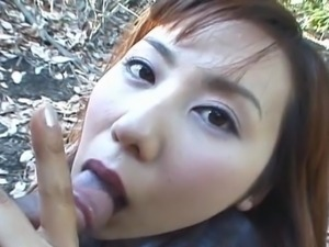 Especially crazy out of doors Thai blowjob!