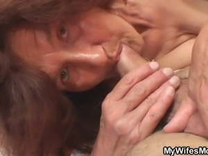 Old bitch fucks her daughter's man