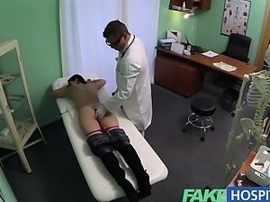 Fake Hospital Squirting MILF wants implants gets a creampie