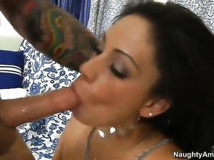 Dale Dabone gives extremely sexy Jamie Valentines love tunnel a try in...