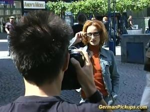 German gets strong outdoor fuck