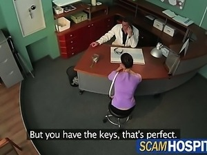 Hot brunette lady wants the doctors cock