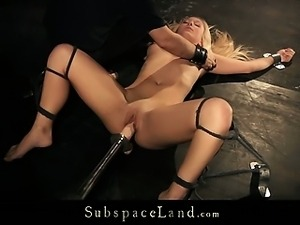 Lianna spanked hard and nailed with huge dildo