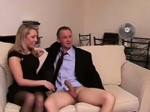 Cfnm mistresses tugging humiliated cock