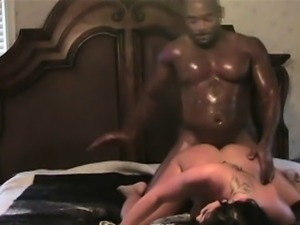 Black Guy Banging Cheating Brunette Housewife On Spy Cam