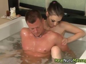 Naughty fetish masseuse sucks dick in bath in hi deinition