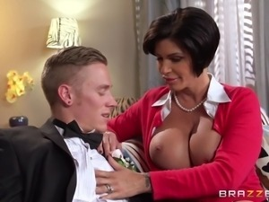 busty mom seduces her daughter's boyfriend