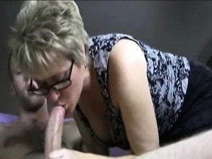 Mature pleasing younger partner