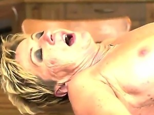 Hardcore and crazy action with a horny and old slut named Malya and her young...