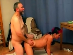 chick is crazy about old dick