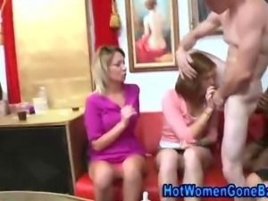 Amateur cock sucking cfnm party babes losing control