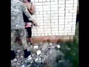 Russian Soldiers Fuck A Slut And Gets Cheered On