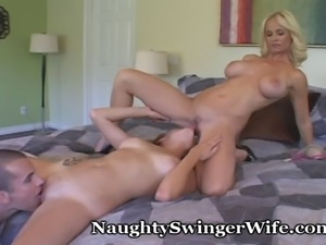 Wife creating an opportunity for her hubby to get some new pussy...some...