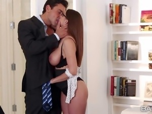Well endowed lady Brooklyn Chase has a crush on Ryan and cant wait no longer...