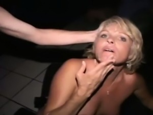 Amateur gets ass fucked in public