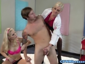 Femdom cfnm art teacher and model punishing dude