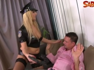 Hot police bitch gets fucked nasty