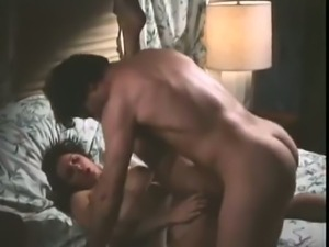 Vintage brunette slut gets drilled deep and hard