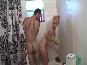 Step sister and not her step brother shower together