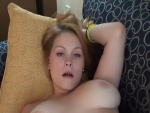 Sexy and fatty milf with huge breasts masturbates