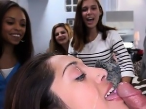 Racy schlong sucking session