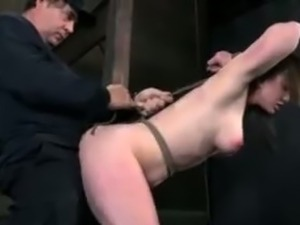 Three hot babes getting fucked in bondage.