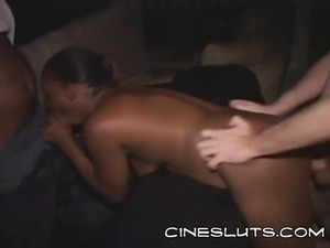 Ebony slut will only take a banging from a daddy that fucks so rough she will...