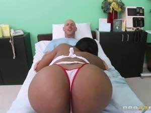 hot nurse paying a visit to her patient