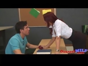 Sexy teacher banged and suck cock p1
