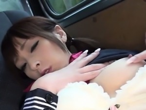 Japanese high school teen solo