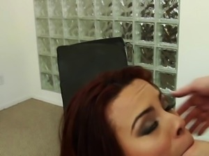 Redhead loving bitch getting fucked roughly
