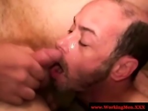 Mature bear rednecks sucking cock