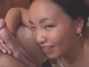 Cute old Japanese has cumfaced after Cute cocksuck