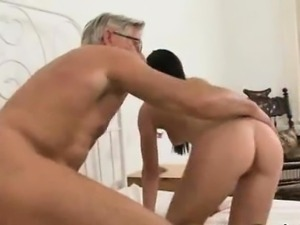 Anal hotties pleasing old dude