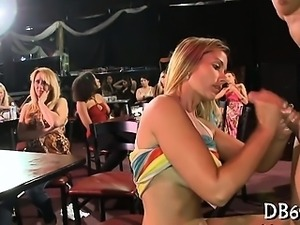 Gorgeous girls sucks wang and receives
