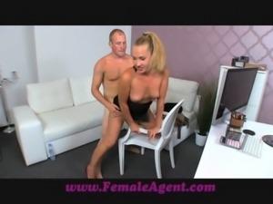 FemaleAgent Nervous stud caught in agents web free