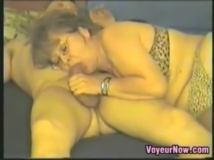 Fat mature woman gets recorded having sex with her man