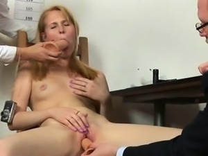 Double dildo test for a secretary