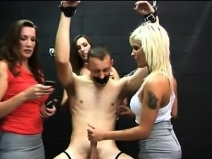 Cfnm fetish honeys jerk losers cock