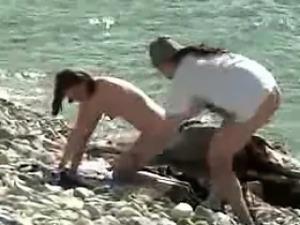 Voyeuring swinger Orgy on Nude Beach