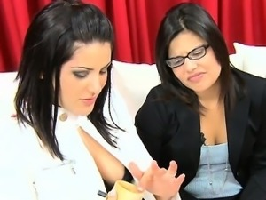 Spunk on tits of amazing gals